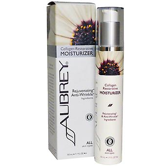 Aubrey Organics, Crema idratante restauro collagene, Tutti i tipi di pelle, 1,7 fl oz (50