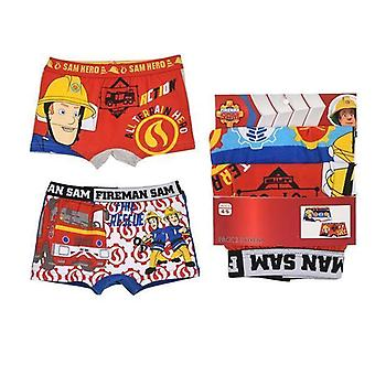 2-pack Boxer briefs Fireman Sam, Rouge/Blanc