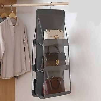 Large Storage Anti Dust Pocket Foldable Hanging Organizer For Handbag Purse