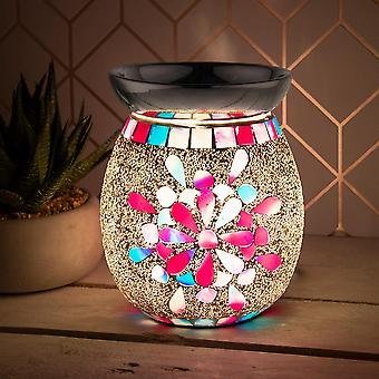vaaleanpunainen kukka sähkövaha sulaa poltin aromi 3D lamppu mosaiikki