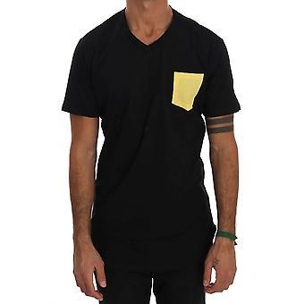 Musta Puuvilla Crewneck T-paita TSH1300-4