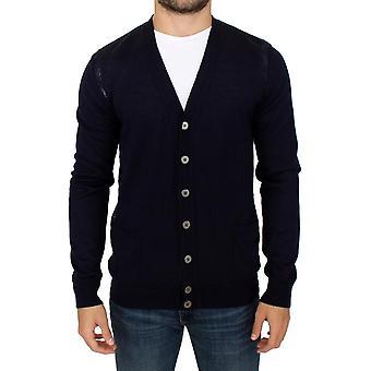 Karl Lagerfeld Karl Lagerfeld blaue Wolle Strickjacke Pullover SIG10577-1
