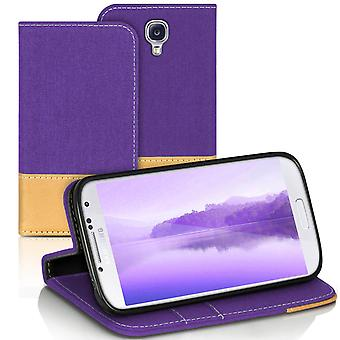 Mobilfordral Jeans for Samsung Galaxy S4 Mini Shockproof Phone Leatherette Denim