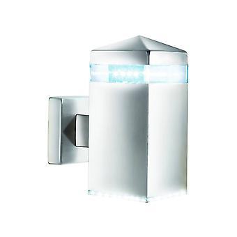 Satin Silber LED Outdoor Wandleuchte IP44