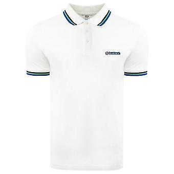 Lambretta Triple Tipped Polo - White/Black/Green/Blue