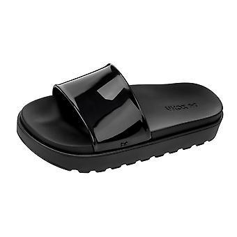 Womens Zaxy Sandals Upload Platform Beach Slide / Flip Flop - Black