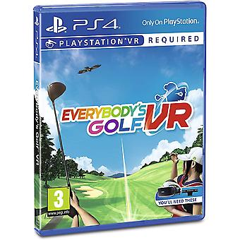 Everybody's Golf PSVR PlayStation VR PS4 Game (Nordic Box - EFIGS ve hře)