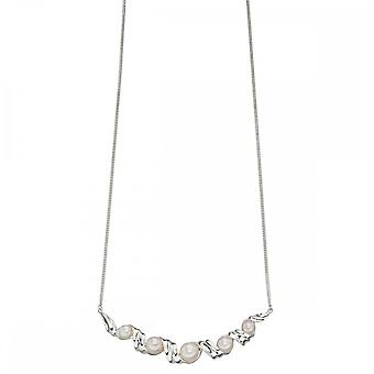 Elements Silver Pearl And Twist Necklace N4175W