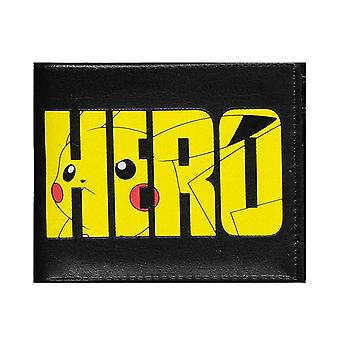 Pokemon Wallet Olympics Pikachu hero Logo new Official Black Bifold