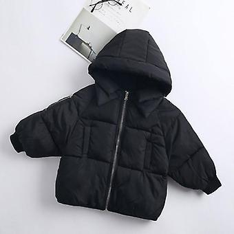 子供とアポスのカジュアルアウターコート、冬の暖かいフード付きジャケット