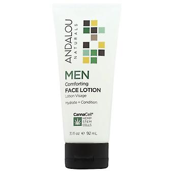 Andalou Naturals Men Comforting Face Lotion, 3.1 Oz