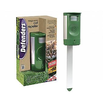 Defenders mega-sonic cat repeller, motion activated cat repellent, mains and battery powered