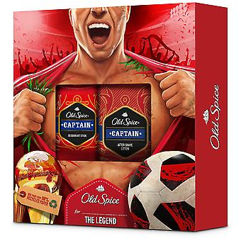 Old Spice Pack Captain Deodorant stick + After Suave lotion