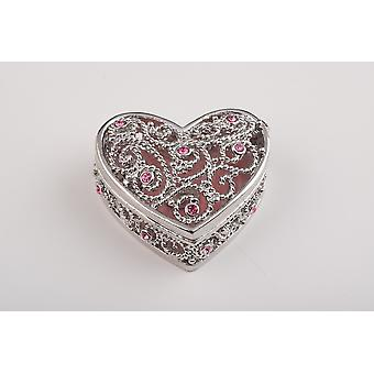 Red Heart Decorative Box Trinket Box