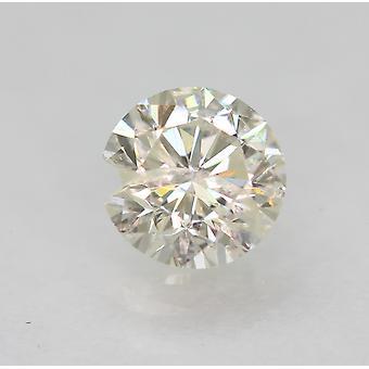 Certified 0.43 Carat I SI2 Round Brilliant Enhanced Natural Loose Diamond 4.81mm