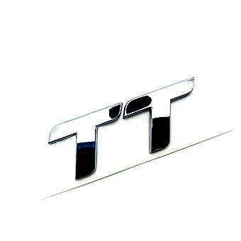 Chrome Audi TT Badge Letters Front Grill Bonnet Badge Emblem Bonnet Rear Bootlid Emblem Stick On
