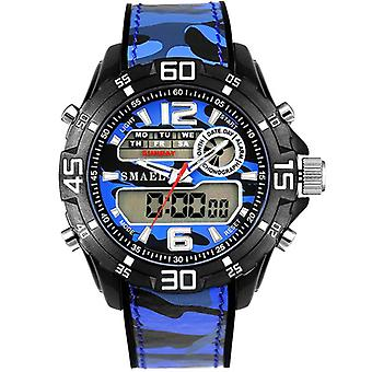 SMAEL 1077 Double Display Digital Watch Men Luminous Alarm Sport Watch Camouflage