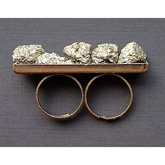 Pyrite Stone dupla ujj gyűrű
