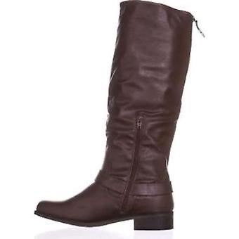 Xoxo Womens Moira Fabric Round Toe Knee High Riding Boots