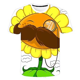 Plants Vs Zombies Cartoon Summer T-shirt, 3d Printed Clothes
