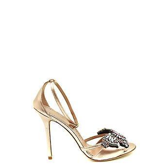 Twin-set Ezbc060293 Women's Gold Leather Sandals