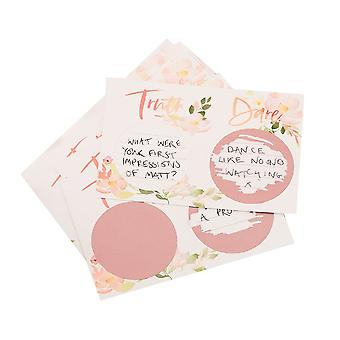 Truth or Dare Scratch Game - Floral Hen Party Cards x 25