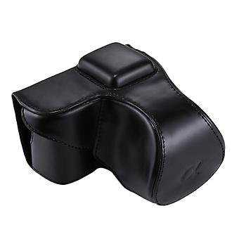 Koko kehon kamera PU nahkakotelo laukku hihna Sony NEX 5N / 5R / 5T (16-50mm / 18-55mm linssi)(Musta)