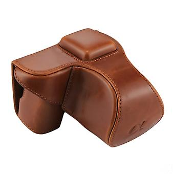 Full Body Camera PU Leather Case Bag with Strap for Sony NEX 5N / 5R / 5T (16-50mm / 18-55mm Lens)(Brown)