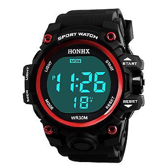Lux Digital Led Electronic Waterproof Ceas de ceas de mână