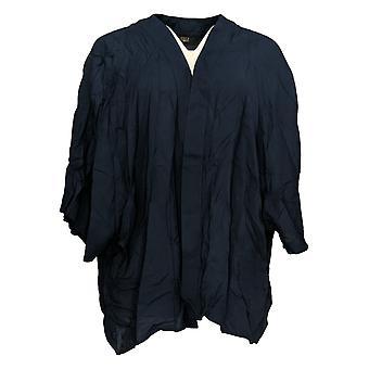G.I.L.I. consiguió que le encanta Mujeres's Plus Suéter Tejido Kimono Azul A354936