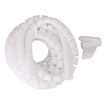 28mm Dia Cable Wire Sleeve Cover Cord Home Management White 5 Meters