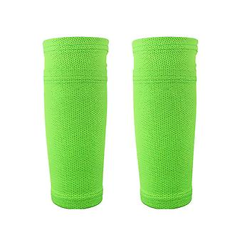 Teens Size polyester spandex Soccer Shin Pads Holder Instep Foot Socks Guard