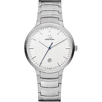 Dänisches Design Faro große Uhr - Silber/Weiß