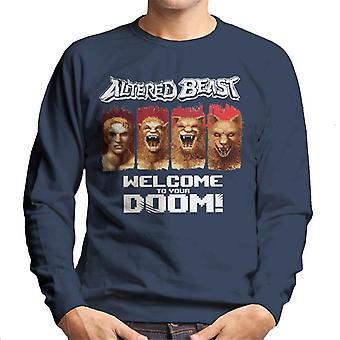Sega endret dyret velkommen til din doom menn's sweatshirt
