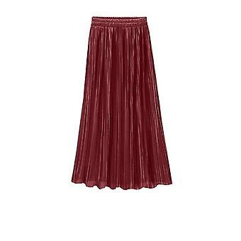 Καλοκαίρι πτυχωμένη φούστα γυναικών