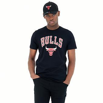 New Era Nba Chicago Bulls Team Logo T-shirt