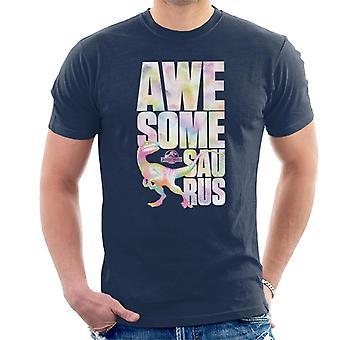 Jurassic Park Velociraptor Awesome Saurus Men's T-Shirt