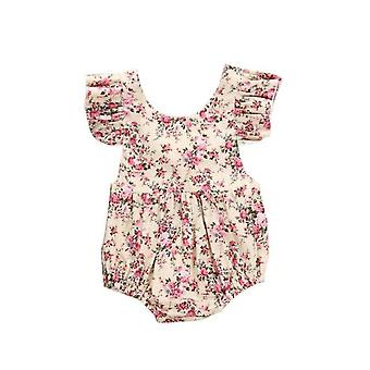 Baby Girl Romper Flower Floral Ruffle Summer Clothes Jumpsuit