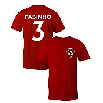 فابينيو 3 لاعب ليفربول نمط كرة القدم تي شيرت