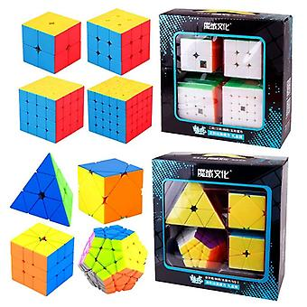 4pcs/set Magic Cube Mofang Jiaoshi Puzzle Educational