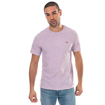 T-shirt levis original house mark da uomo in viola