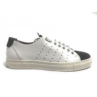 Men's Shoes Sneaker Yox N. Bearded Leather and Suede Black White Us17nb03