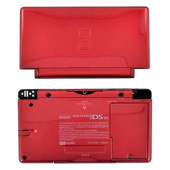 Täysi kotelo kuori nintendo ds lite -konsolin täydelliseen kotelon korjaussarjan vaihtoon - metallinen punainen | zedlabz-niminen