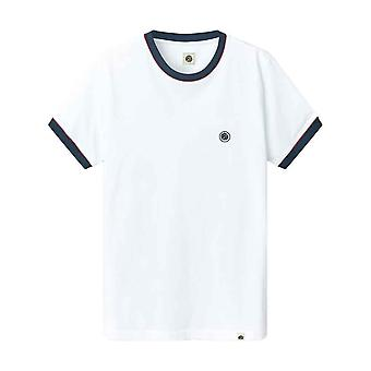 Pretty Green Tilby Ollier Tipped T-Shirt - White