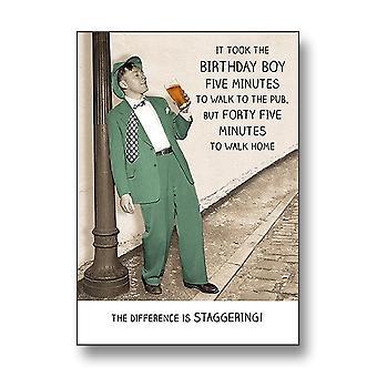 Pigment Rib Ticklers - Birthday Boy Walk To Pub Card Rt1036a
