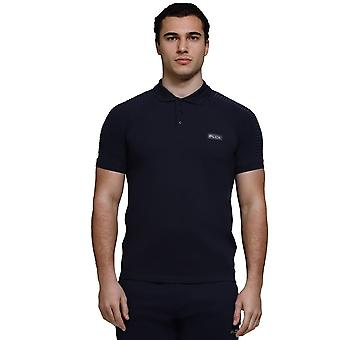 Police Strawin 7519 Biker Shoulder Detail Half Sleeve Polo T-shirt