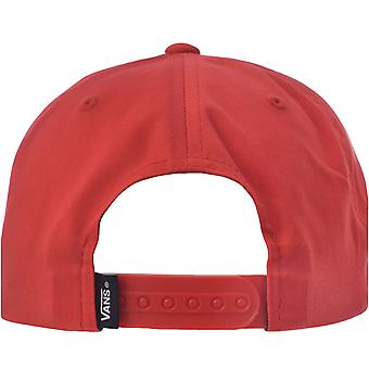 Vans Boys ילדים מלא טלאי שטוח שוליים מתכוונן סנאפבק כובע בייסבול - אדום