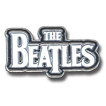 The Beatles Large Drop T Logo White new Official Metal Pin badge