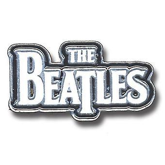 Il Beatles Large Drop T Logo White nuovo ufficiale metallo Pin badge