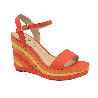 Ravel Dixie Wedge Open-Toe Sandals for Women  - Red